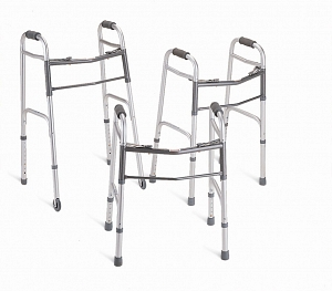 Extra Wide 2 Button Folding Bariatric Standard Walker