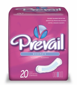 Prevail Moderate Abs.Pads -- bag of 20