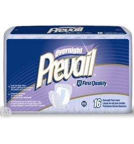 Prevail Overnite Contour Pad - High Absorbency Bag of 16