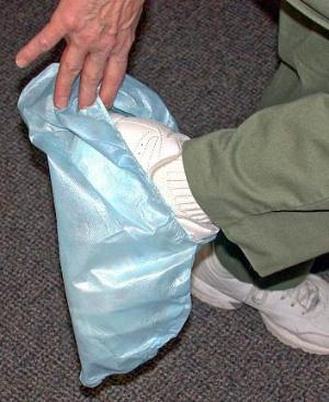 Shoe Covers -- Gripper Non-skid Bottom