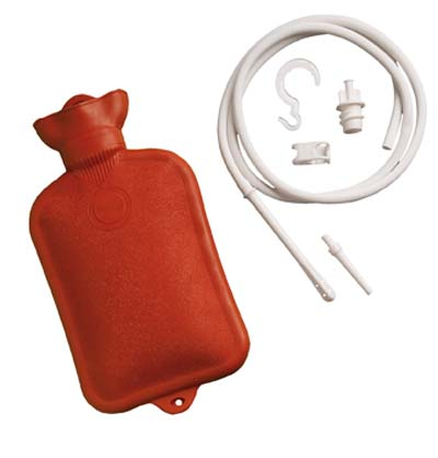 Deluxe Hot Water Bottle with Fountain Syringe